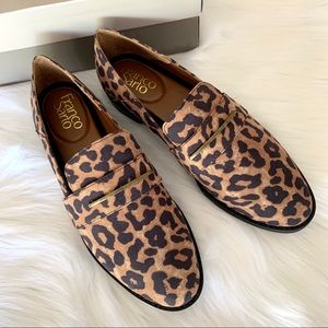 "Franco Sarto ""Harrow"" animal print modern loafers"